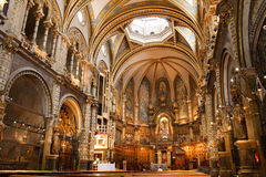 Basilica at the Montserrat Monastery, Spain stock image