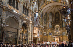 Basilica at the Montserrat Monastery, Spain Royalty Free Stock Photography