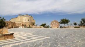 Basilica of Moses (Memorial of Moses), Mount Nebo, Jordan Royalty Free Stock Photo