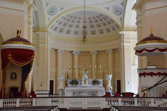 Basilica of the National Shrine of the Assumption of the Blessed Virgin Mary, in Baltimore, Maryland stock photography