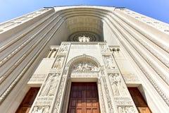 Basilica of the National Shrine Catholic Church. Washington DC - April 12, 2015: Basilica of the National Shrine Catholic Church, Washington DC, USA royalty free stock image