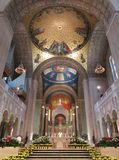 Basilica of the National Shrine of the Immaculate Conception Interior. Photo of interior of basilica of the national shrine of the immaculate conception interior royalty free stock photo