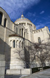 Basilica of the National Shrine of the Immaculate Conception. Side view, Washington DC, USA stock photo