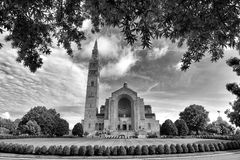 Basilica of the National Shrine of the Immaculate Conception in Washington, DC royalty free stock photo