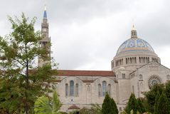 Basilica of the National Shrine of the Immaculate Conception Stock Photography