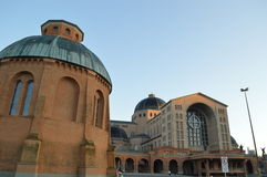Basilica of the National shrine of our lady of Aparecida. In Brazil Royalty Free Stock Image