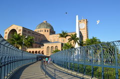 Basilica of the National shrine of our lady of Aparecida. In Brazil Stock Images