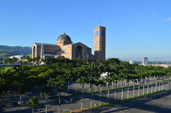 Basilica of the National shrine of our lady of Aparecida. In Brazil Stock Image