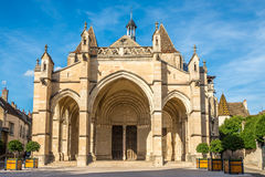 Basilica Notre Dame in Beaune Stock Photography