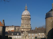 Basilica of Notre Dame in Boulogne Stock Photo
