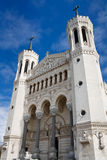 Basilica of Notre-Dame de Fourviere in Lyon Stock Image