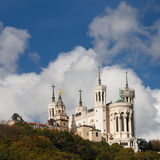Basilica of Notre-Dame de Fourviere, Lyon, France Royalty Free Stock Images