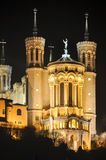 Basilica of Notre-Dame de Fourviere, Lyon, France Stock Images