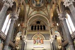 Basilica of Notre Dame de Fourviere, Lyon Stock Image