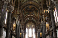 Basilica of Notre Dame de Fourviere, Lyon Royalty Free Stock Photography