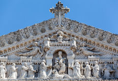 Basilica of Notre-Dame de Fourvière Lyon France Stock Photos
