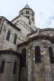 Basilica of Notre-Dame du Port in Clermont-Ferrand in France Stock Image