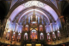 Basilica notre dame montreal royalty free stock image