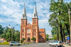 Basilica Notre-Dame. In Saigon Royalty Free Stock Image