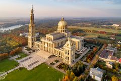 Free Basilica Of Our Lady Of Lichen In Poland. Aerial View Royalty Free Stock Photos - 138056858