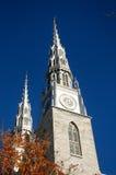 Basilica Ottawa della cattedrale del Notre Dame Fotografia Stock Libera da Diritti