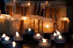 Basilica Oudenbosch NL. Candles in the Basilica in Oudenbosch NL royalty free stock images