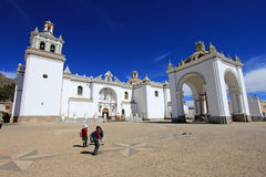 Basilica Our Lady of Copacabana, Bolivia Stock Photos