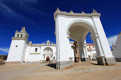 Basilica Our Lady of Copacabana, Bolivia. Basilica of Our Lady of Copacabana, the real one in Bolivia Stock Photo