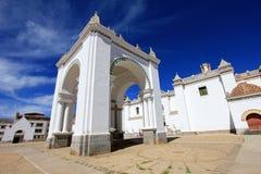 Basilica Our Lady of Copacabana, Bolivia stock images
