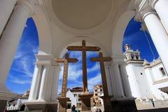 Basilica Our Lady of Copacabana, Bolivia royalty free stock image