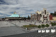 The Basilica of our Lady de Guadalupe. The Basilica of our Lady de Guadalupe in Mexico city Stock Image