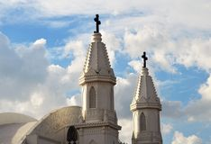 Basilica of Our Lady of Good Health, Velankanni. Velankanni is a town in Nagapattinam district in the Indian state of Tamil Nadu. It lies on the Coromandel Coast royalty free stock image