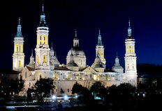 Basilica of Our Lady of the Pillar in Zaragoza Stock Photography