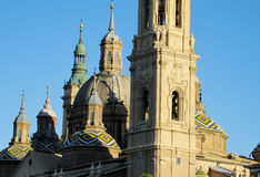 Basilica of Our Lady of the Pillar in Zaragoza Stock Photos