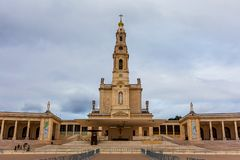 Basilica of Our Lady of the Rosary Under a Stormy Sky royalty free stock image