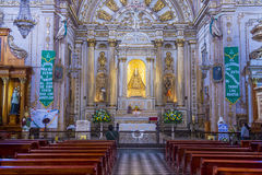 The Basilica of Our Lady of Solitude in Oaxaca Mexico. OAXACA , MEXICO - NOV 02 : The Basilica of Our Lady of Solitude in Oaxaca , Mexico on November 02 2015 Stock Images