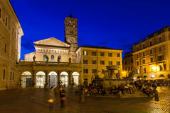 The Basilica of Our Lady in Trastevere (Basilica di Santa Maria in Trastevere), Rome Stock Photo