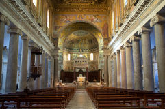 The Basilica of Our Lady in Trastevere in Rome Stock Images
