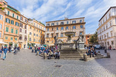The Basilica of Our Lady of Trastevere in Rome, Italy Royalty Free Stock Image