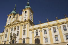 Basilica of Our Lady of Visitation in Olomouc Stock Image