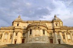 Basilica Papale di Santa Maria Maggiore church in Rome. Front of the historical Basilica Papale di Santa Maria Maggiore church in Rome Stock Image