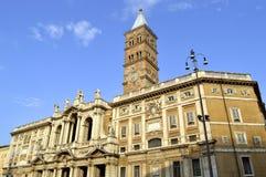 Basilica Papale di Santa Maria Maggiore church in Rome. Rome, Italy - September 11, 2016 : Detail of the historical Basilica Papale di Santa Maria Maggiore Stock Photos