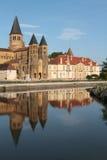 Basilica of Paray-le-Monial reflections Stock Photo