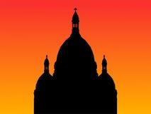 Basilica Parigi di Sacre Coeur illustrazione di stock