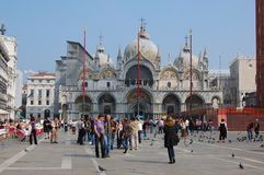Basilica on piazza di San Marco in Venice Royalty Free Stock Photos