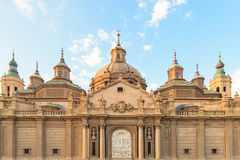 Basilica Pillar in Zaragoza , Spain. Royalty Free Stock Photo