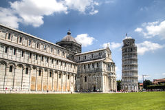 The basilica of Pisa with the leaning tower Royalty Free Stock Photo