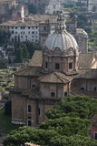 Basilica Porcia, aerial view. Via del Tulliano, Roman Forum Royalty Free Stock Images