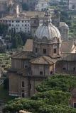 Basilica Porcia, vista aerea Via del Tulliano, Roman Forum Immagini Stock Libere da Diritti