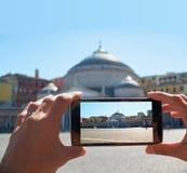 Basilica Reale Pontificia San Francesco da Paola. Naples, Campania, Italy. Stock Image